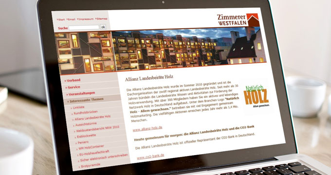 Zimmerer Westfalen - Website
